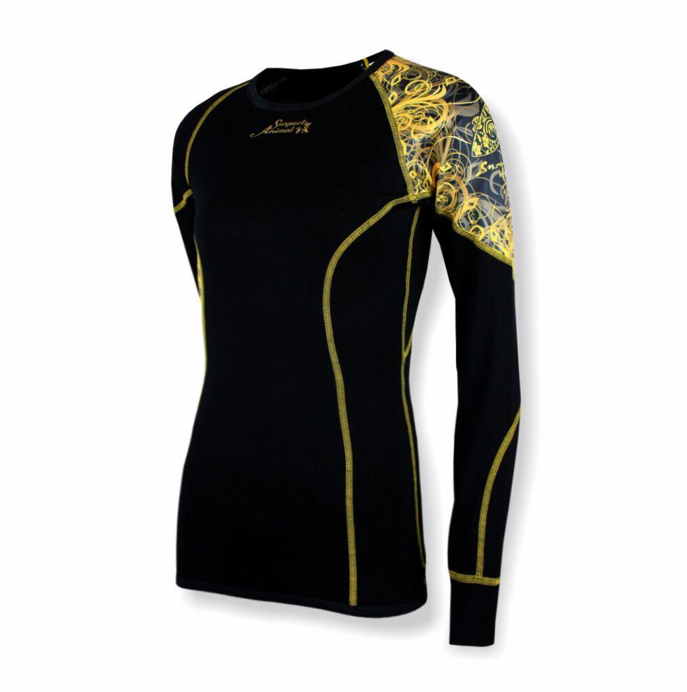 3eb2661a5c5 Dámské funkční triko dlouhý rukáv GOLD černá Bamboo Ultra - Funkční ...