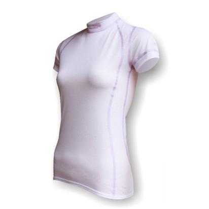 8c3c2e4cc03 Dámské funkční triko krátký rukáv bílá fialová SilverTech - Funkční ...