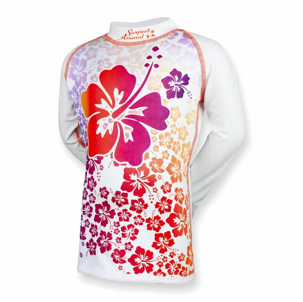 714296a4d4b Dětské funkční triko dlouhý rukáv HAWAII bílá Bamboo Ultra - Funkční ...